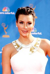 Kim Kardashian in wedding dress