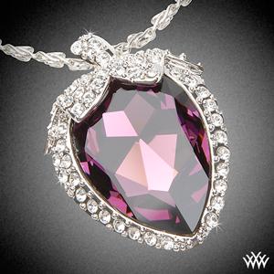 Large Amethyst and Diamond Pendant