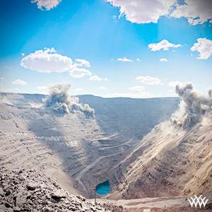 Large Diamond Mine with Explosions