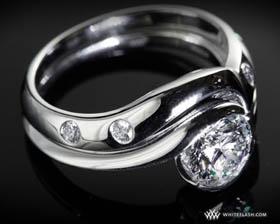 lily-diamond-engagement-ring-set
