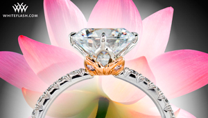 Lotus Engagement Ring by Leon Mege