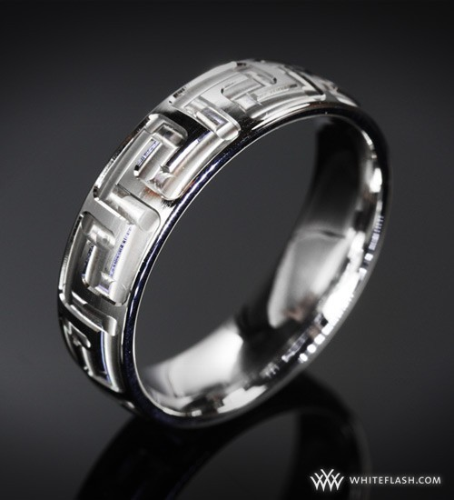 Greek's motif mens ring