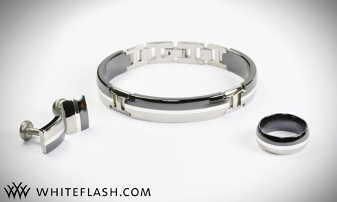 Bracelet, Cufflinks and Wedding Band by Edward Mirell