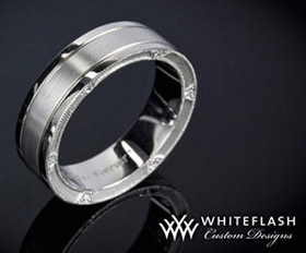 mens ring with loose diamonds