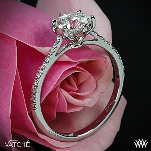 Vatché Pave Engagement Ring