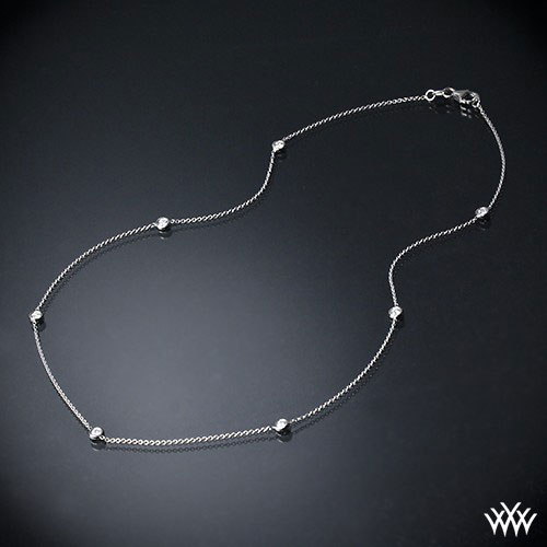 necklace with small loose diamonds