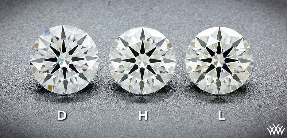 One Carat AGS Certified Ideal Cut Diamonds Face Up