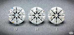 One Carat AGS Certified Ideal Cut Diamonds Face Up