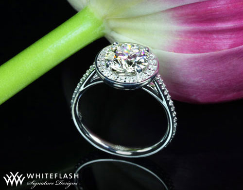Matt Song, pave cut, solitaire ring