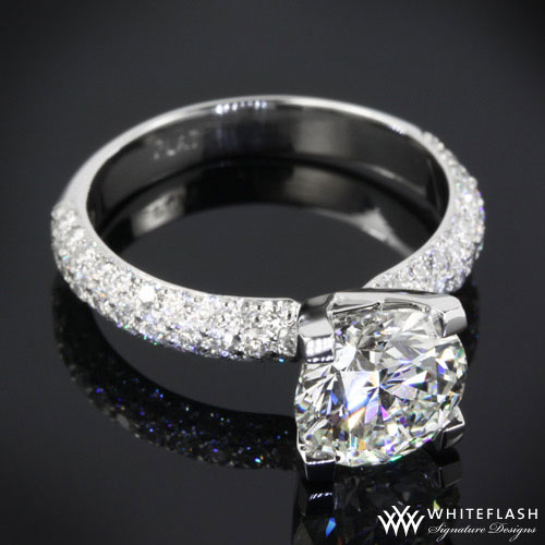 Pave Setting Engagement Rings