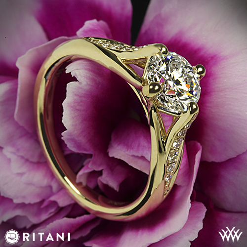 Ritani Pave Engagement Ring
