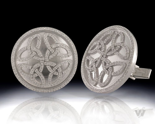 Puff Daddy platinum and diamond cuff-links