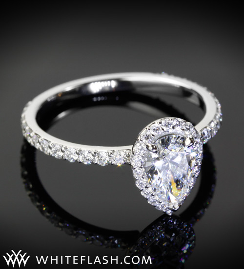pear cut diamond engagement ring