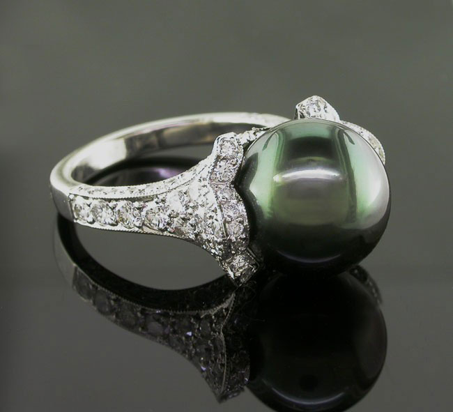 Pearl And Diamond Engagement Rings: A Pearl Of An Idea: A Unique Engagement And Wedding Ring Style