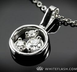 pendant with 3 diamond stones
