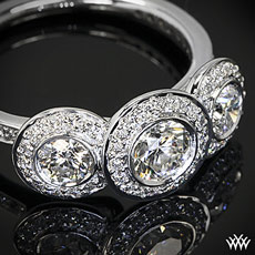 Platinum Ritani Endless Love 3 Stone Engagement Ring