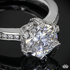 Platinum Ritani Setting Channel-Set Diamond Engagement Ring