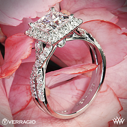 Verragio ENG 0379 Princess Cut Diamond Ring