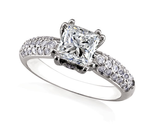 Rhapsody Pave Engagment Ring