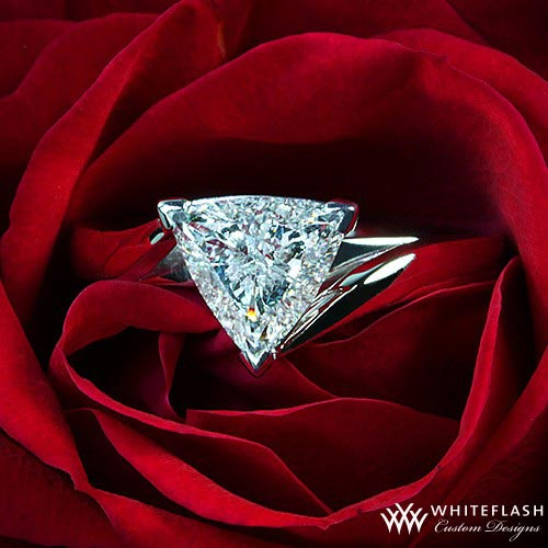 rose with diamond ring