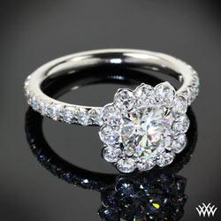 lotus diamond ring