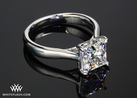 royal crown solitaire engagement ring