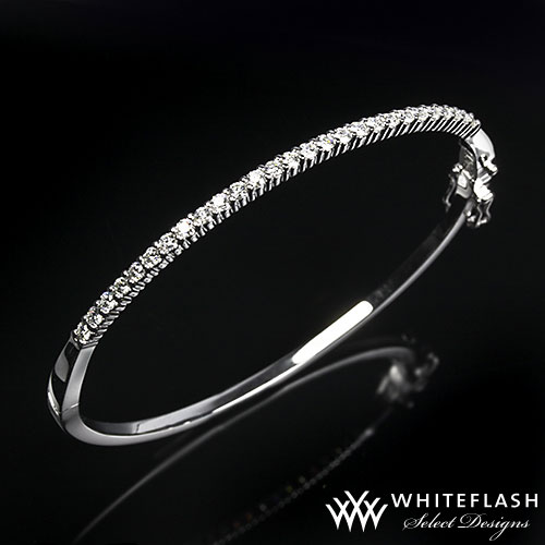 shared prong diamond bracelet
