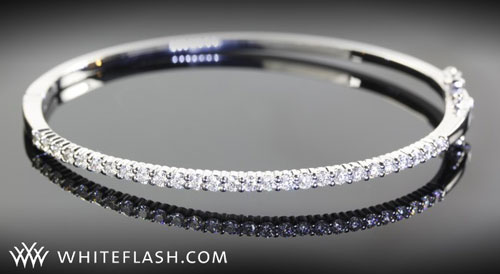 Shared Prong Diamond Bangle