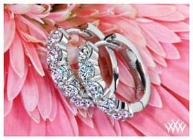 share prong diamond hoop earrings