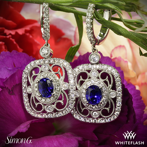 Simon G TE201 Diamond Earrings