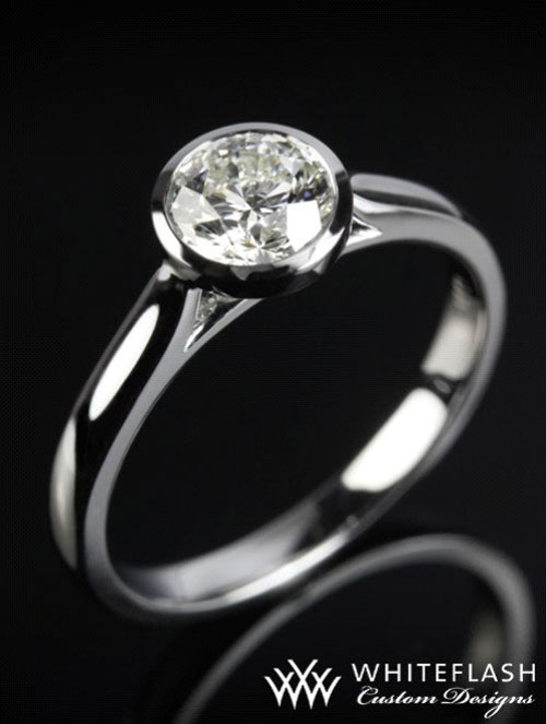 sleek solitaire engagement ring