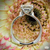 """W-Prong"" Solitaire Engagement Ring"