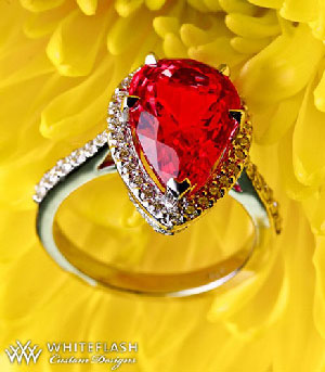 ruby heart-shaped ring
