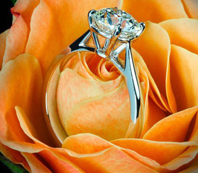 big solitaire diamond ring