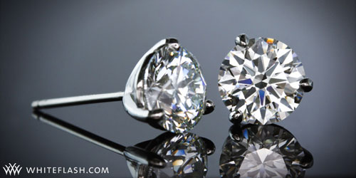 Three G Martini Diamond Studs