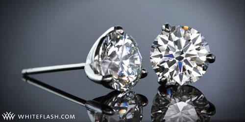 Three Prong Martini Diamond Studs