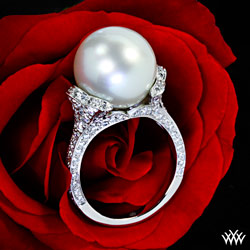 Pearl Diamond Right Hand Ring