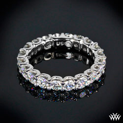 """Annette's U-Prong"" Eternity Diamond Wedding Ring"