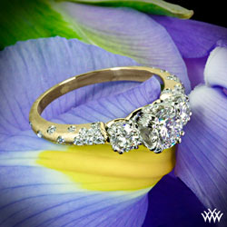 """""""Petite Champagne"""" Engagement Ring"""