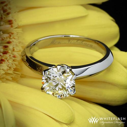 tiffany-style knofe edge engagement ring