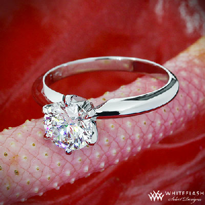 6 prong tiffany style diamond ring