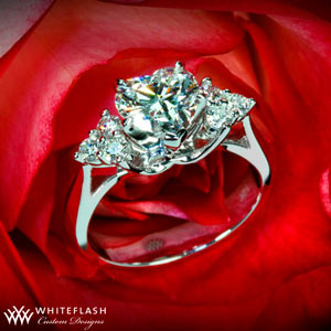 v prong heart diamond engagement