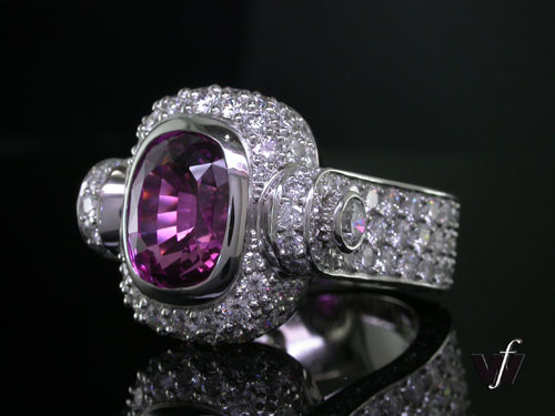 Cushion-cut valentine's day ring