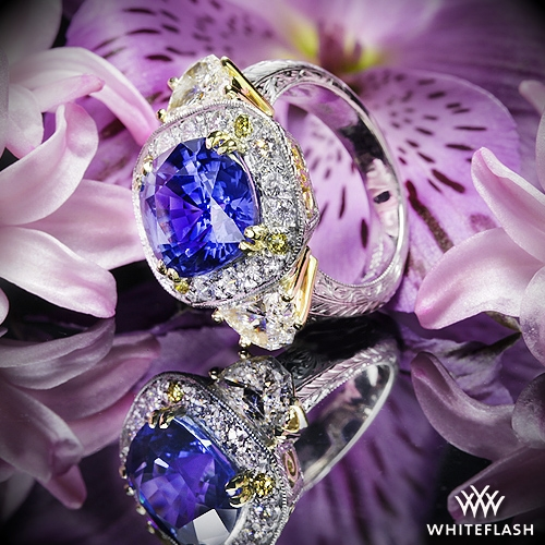 Queen Elizabeth Blue Sapphire Ring