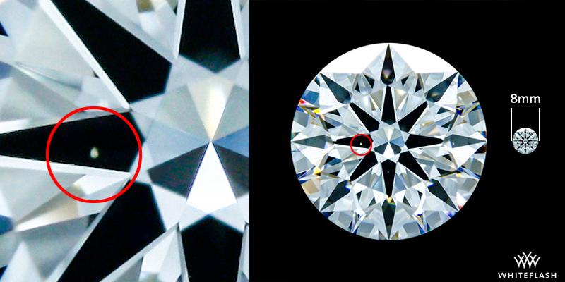 VVS1 Diamond Magnified