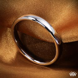 """European Style Comfort Fit"" Wedding Ring"