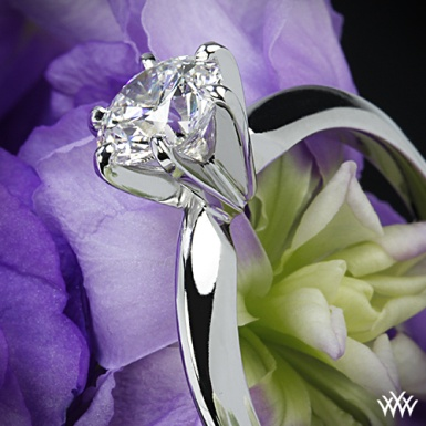 6 prong tiffany style solitaire engagement ring
