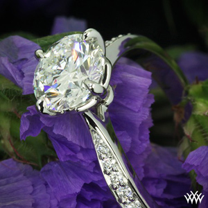 whiteflash solitaire ring