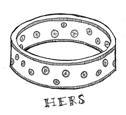 woman's wedding band
