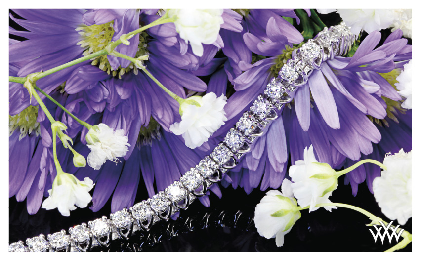 X Prong Diamond Bracelet October 2014 Whiteflash Jewelry Calendar